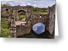 Bridge At Leeds Castle Greeting Card
