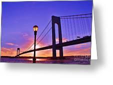Bridge At Sunset 2 Greeting Card