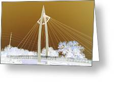 Bridge Iced Greeting Card by David Alvarez