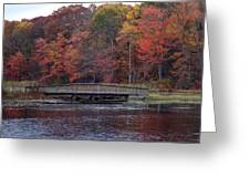 Bridge In Autumn Greeting Card