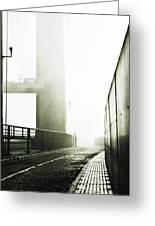 Bridge In Mist Greeting Card