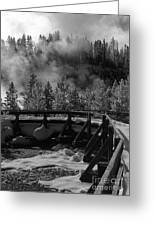 Bridge In Mud Volcano Area Greeting Card