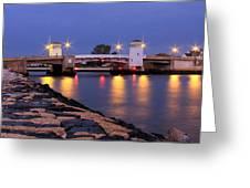 Bridge In The Jetty Greeting Card