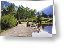 Bridge In Vail - Colorado Greeting Card