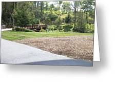 Bridge Inside Golf Course Greeting Card