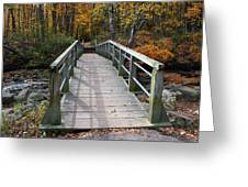 Bridge Into Autumn Greeting Card
