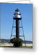 Bridge Lighthouse Greeting Card