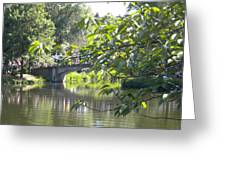Bridge Near The Charles Greeting Card