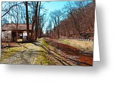 Bridge Number 2 Along The Delaware Canal Greeting Card