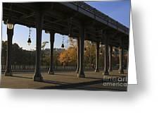 Bridge Of Bir Hakeim In Paris Greeting Card