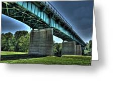 Bridge Of Blue Greeting Card by Heather  Boyd
