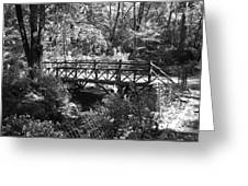 Bridge Of Centralpark In Black And White Greeting Card