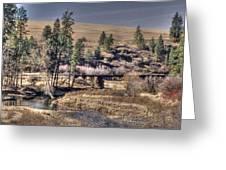 Bridge Over A Creek Greeting Card