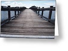Bridge Over Calm Waters Greeting Card