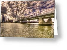 Bridge Over Rotterdam  Greeting Card