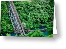 Bridge Over The Lazy River Greeting Card