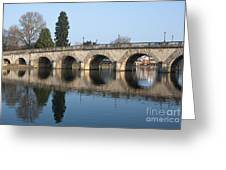Bridge Over The River Thames Greeting Card