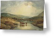 Bridge Over The Usk Greeting Card