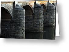 Bridge Pillars Greeting Card