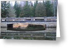 Bridge Reflection Greeting Card