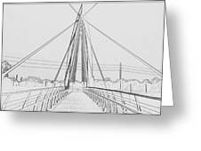 Bridge Sketch Greeting Card by David Alvarez