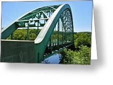 Bridge Spanning Connecticut River Greeting Card