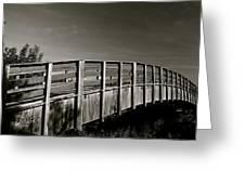 Bridge To The Falls Greeting Card