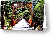 Bridge To The Wild Side Greeting Card