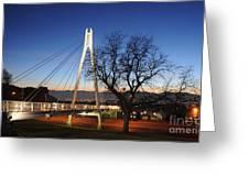 Bridge To Twilight Greeting Card