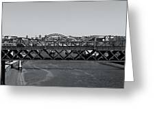 Bridges Of Newcastle On Tyne Greeting Card