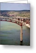 Bridging The Canyon Greeting Card
