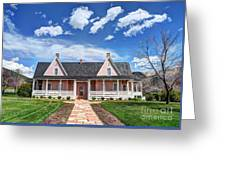 Brigham Young Forest Farm Home Greeting Card