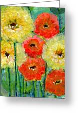 Bright Colored Flowers Shine Greeting Card