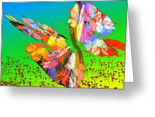 Bright Elusive Butterflys Of Love Greeting Card