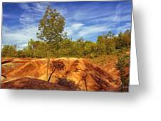 Bright Light On The Badlands Greeting Card