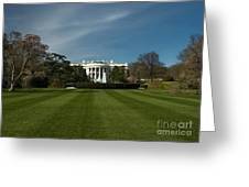 Bright Spring Day At The White House Greeting Card