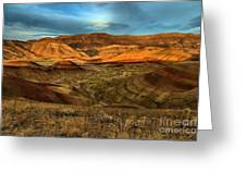 Brightly Painted Hills Greeting Card