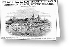 Brighton Beach Hotel, 1880 Greeting Card