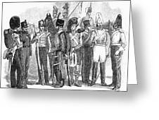 British Army, 1855 Greeting Card