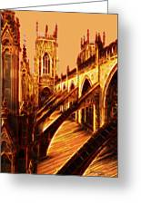 British Christian Cathedral  Greeting Card
