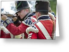 British Soldier Shooting Greeting Card