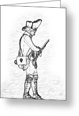 British Soldier With Rifle Sketch Greeting Card
