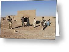 British Soldiers On Foot Patrol Greeting Card