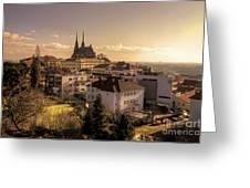 Brno Skyline  Greeting Card