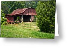 Broad Roofed Barn Greeting Card by Douglas Barnett