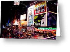 Broadway At Times Square Greeting Card