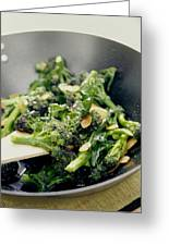 Broccoli Stir Fry Greeting Card