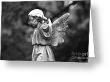 Broken Angel Bw Greeting Card