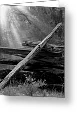 Broken Fence In Morning Light At Yosemite Greeting Card