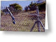 Broken Fence Greeting Card